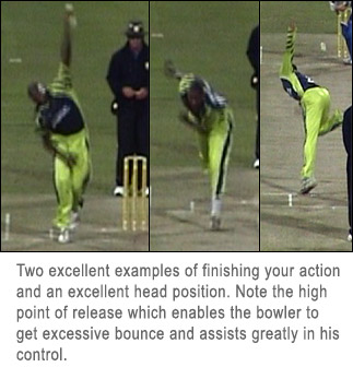 Example of a good bowling action