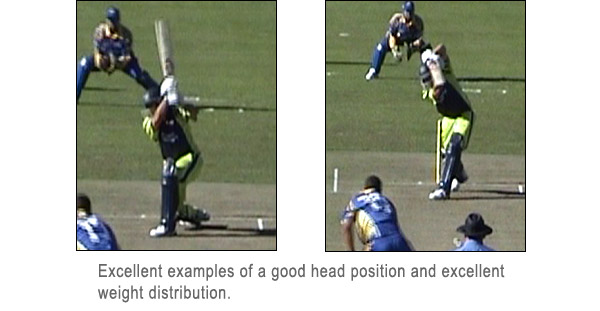 Head position when batting