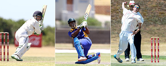 SWD Cricket - Jean du Plessis (left), Grant Esau (centre) and Joshua Klue (right)