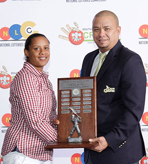 SWD Cricket - Heroline Rhodes received the SP Swigelaar Floating Trophy for her outstanding achievements