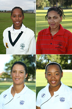 SWD Cricket - Elzaan Pietersen, Marnazelle Rabie, Mochelle May and Janet Winster