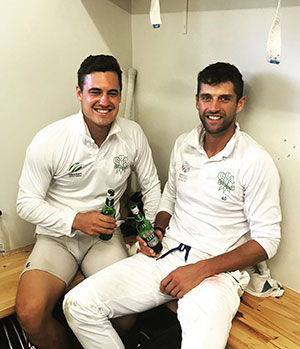 SWD Cricket - Kotze and Pienaar celebrating