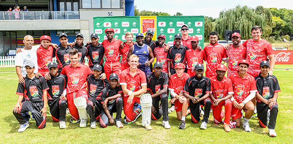 SWD Cricket - Coca-Cola All-Star team with the CSA Hub Side