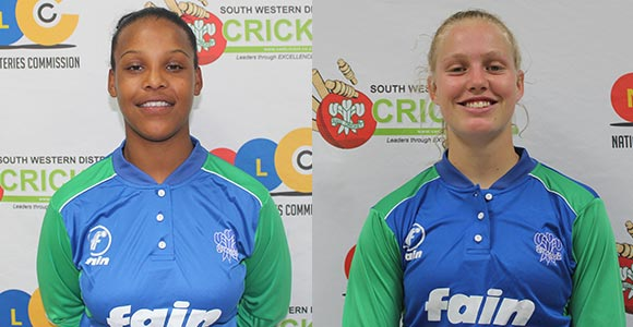 SWD Cricket - Micaela Andrews and Annerie Dercksen were selected for the Cricket South Africa T20 Super league