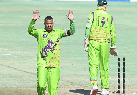 SWD Cricket - Glenton Stuurman celebrates a wicket