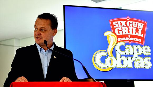 Six Gun Grill Cape Cobras interim CEO Albertus Kennedy