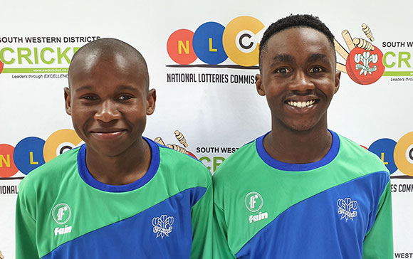 SWD Cricket - Kamvalethu Feni (left) and Ayabonga Ngondo (right)
