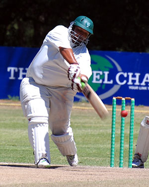 SWD Cricket – Nigel Brouwers in action, batting
