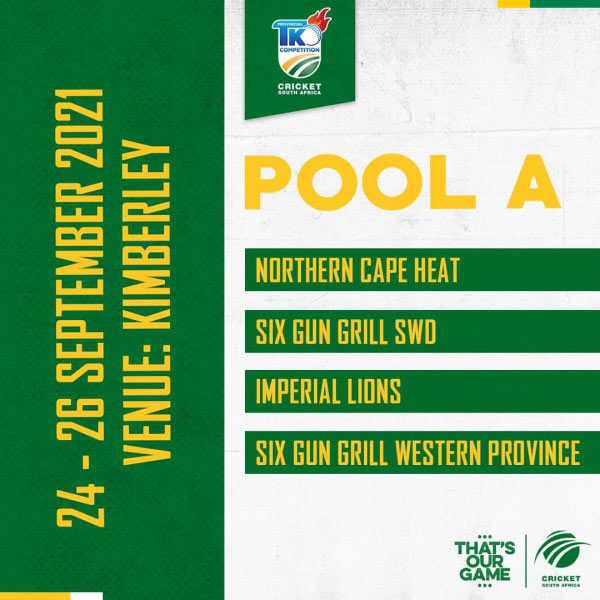 SWD Cricket – T20 KNOCK OUT COMPETITION POOL A